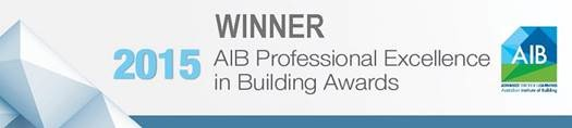 Winnner of AIB Professional Excellence in Building Awards 2015