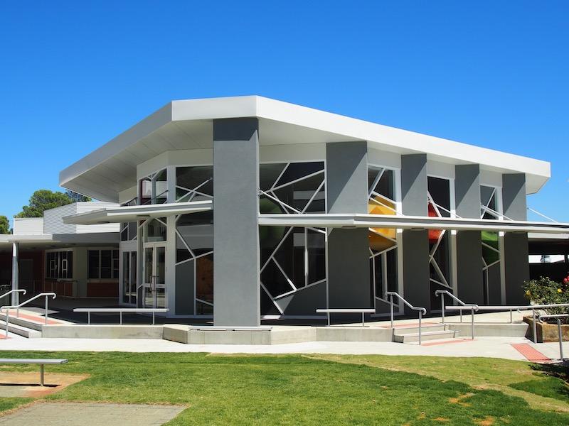 geometric building exterior